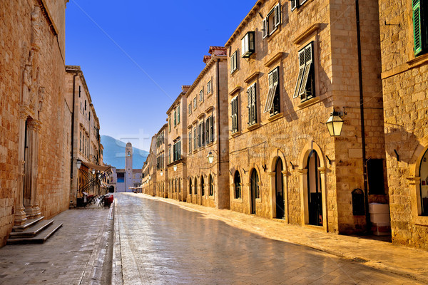 Famous Stradun street in Dubrovnik morning view Stock photo © xbrchx