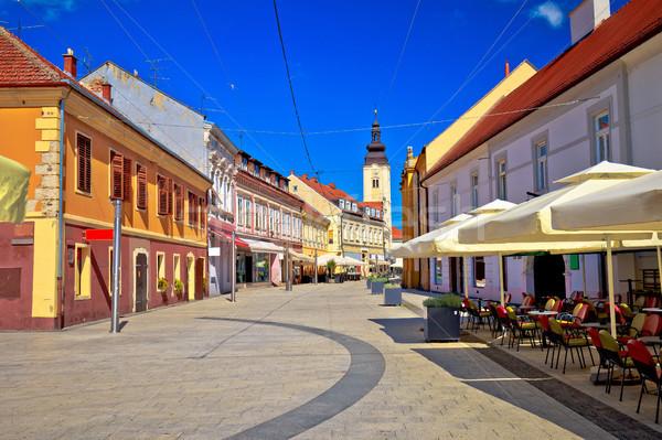 Cidade rua principal ver região Croácia árvore Foto stock © xbrchx