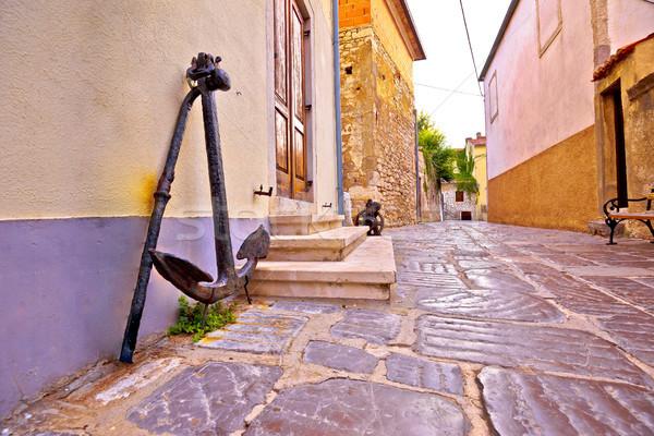 Barrio antiguo piedra calle edad ancla vista Foto stock © xbrchx