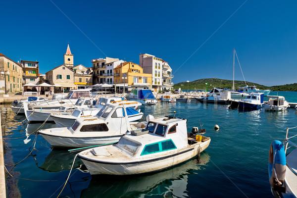 Barche porto view cielo acqua panorama Foto d'archivio © xbrchx