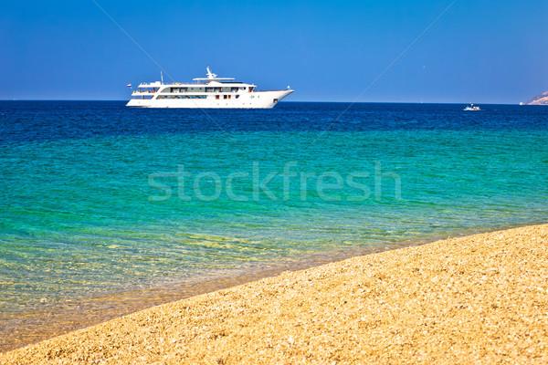 яхта крыса рай пляж бирюзовый Сток-фото © xbrchx