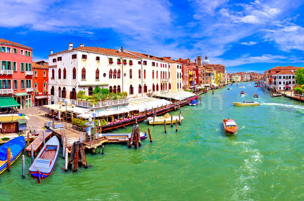 Colorful Canal Grande in Venice panoramic view Stock photo © xbrchx