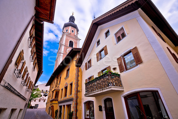 Ville vue sur la rue alpes région ciel bâtiment Photo stock © xbrchx