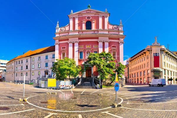 広場 パノラマ 表示 水 青 都市 ストックフォト © xbrchx