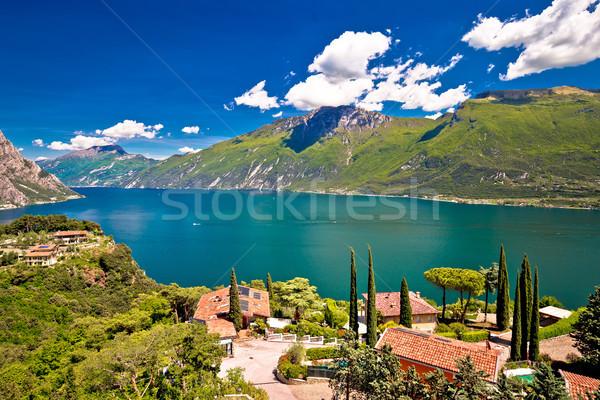 Garda lake and Limone sul Garda view Stock photo © xbrchx