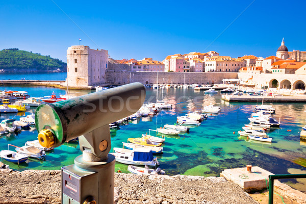 Town of Dubrovnik viewpoint on historic walls view Stock photo © xbrchx