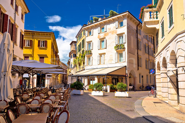 Stockfoto: Italiaans · straat · cafe · verona · toeristische