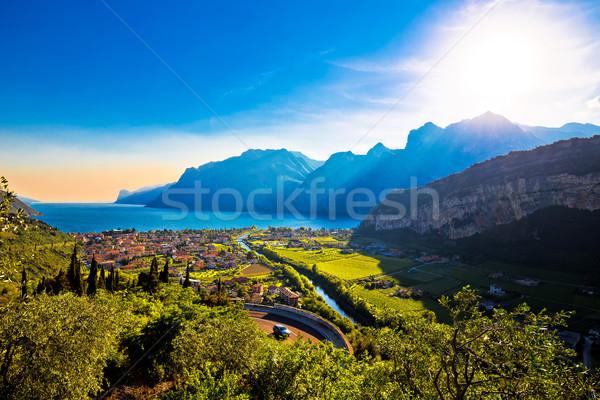 Torbole and Lago di Garda view Stock photo © xbrchx
