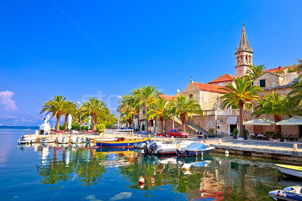 Splitska on Brac island seafront and landmarks view Stock photo © xbrchx