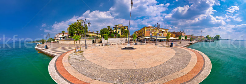 Garda lake waterfront of Lasize panoramic view Stock photo © xbrchx