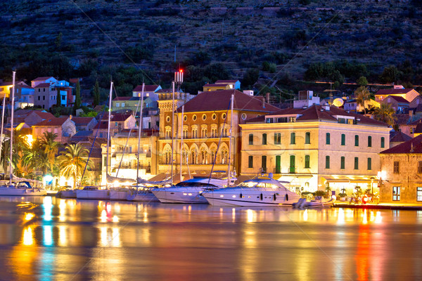 Yachting destination of Vis island evening view Stock photo © xbrchx