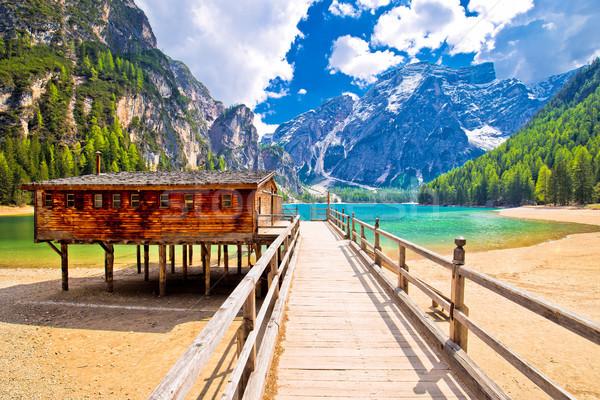 Lago vista sur región Italia naturaleza Foto stock © xbrchx
