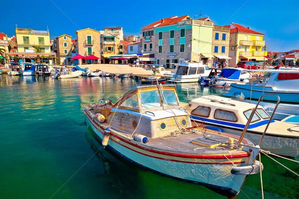 Town of Vodice tourist waterfront view Stock photo © xbrchx