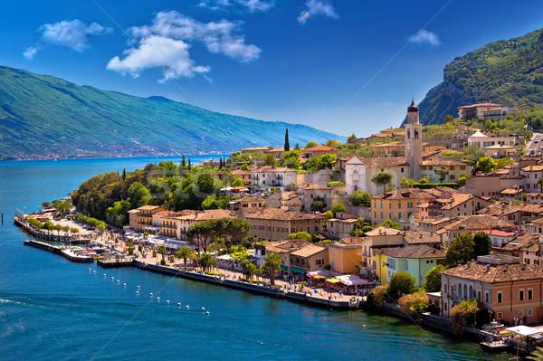 Bord de l'eau vue région Italie eau paysage Photo stock © xbrchx