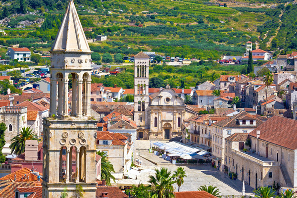Historic town of Hvar stone architecture  Stock photo © xbrchx