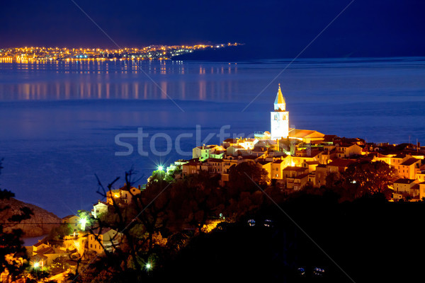 Town of Vrbnik on Krk island evening view Stock photo © xbrchx