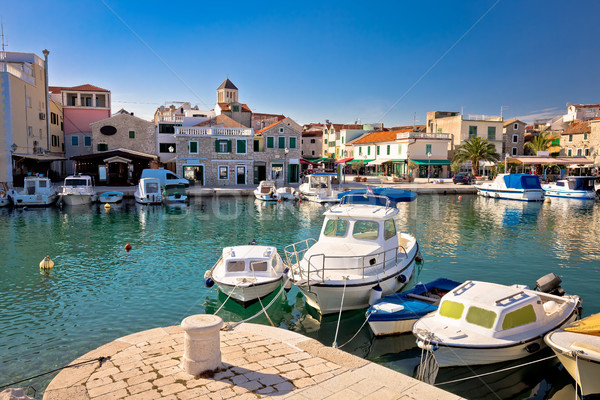 Town of Vodice tourist waterfront view Stock photo © xbrchx