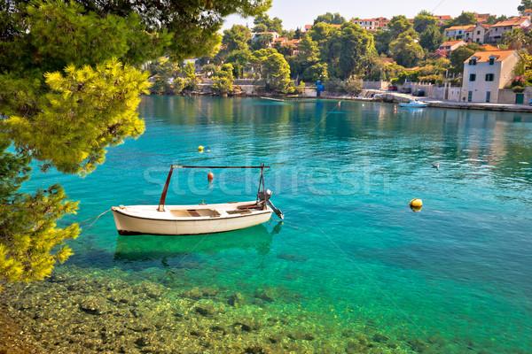 Idyllic turquoise beach in Splitska Stock photo © xbrchx