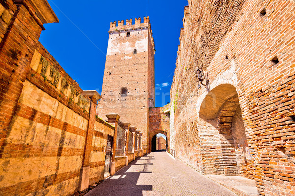 Castelvecchio Bridge on Adige river in Verona Stock photo © xbrchx