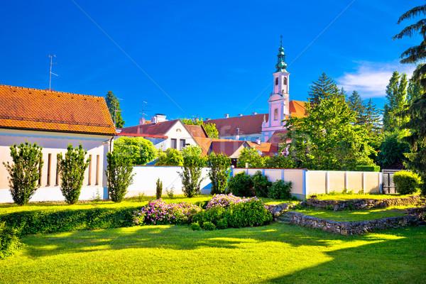 Colorido rua verde parque barroco cidade Foto stock © xbrchx