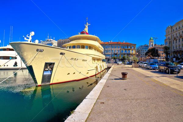 City of Rijeka yachting waterfront panoramic view Stock photo © xbrchx