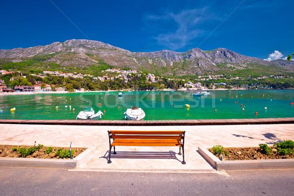 Srebreno coastline and waterfront view Stock photo © xbrchx