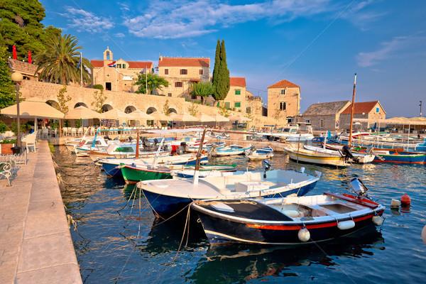 Ville île bord de l'eau vue région Croatie Photo stock © xbrchx