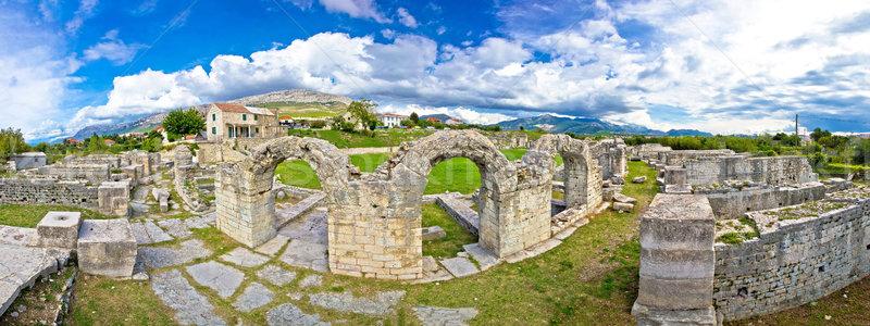 石 遺跡 歴史的 風景 背景 芸術 ストックフォト © xbrchx