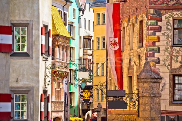 Histórico calle vista alpino ciudad región Foto stock © xbrchx