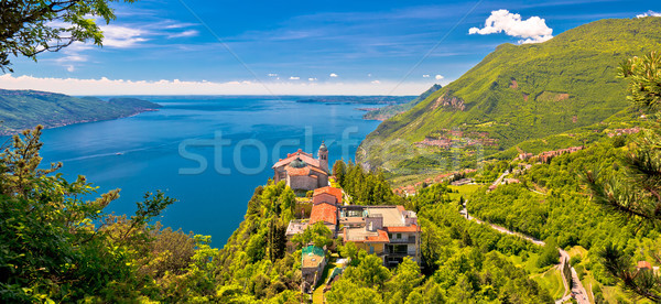 Madonna di Montecastello hermitage above Lago di Garda  Stock photo © xbrchx