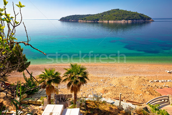 Banje beach and Lokrum island in Dubrovnik Stock photo © xbrchx