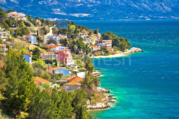 Makarska riviera turquoise coastline view Stock photo © xbrchx
