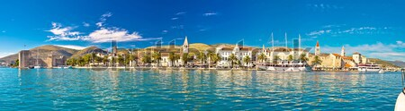 Trogir UNESCO world heritage site panoramic Stock photo © xbrchx