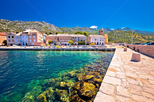 Town of Karlobag in Velebit channel waterfront view Stock photo © xbrchx