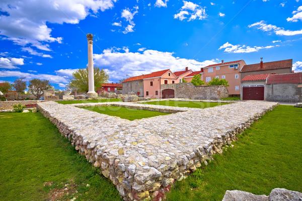 öreg római romok színes építészet város Stock fotó © xbrchx