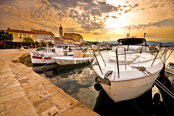 Photo stock: Ville · or · matin · vue · archipel · Croatie