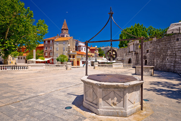 Zadar Five wells square and historic architecture view Stock photo © xbrchx