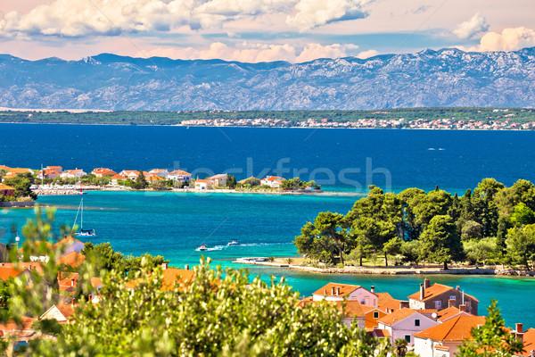 Zadar islands archipelago and Velebit mountain view Stock photo © xbrchx