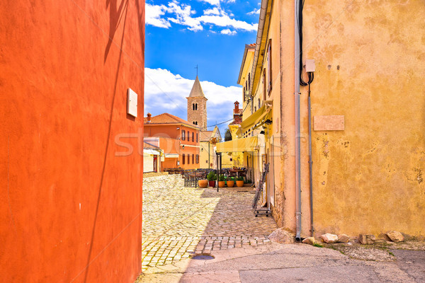 Colorful architecture of historic town of Nin Stock photo © xbrchx