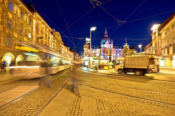 City of Graz Hauptplatz main square market view Stock photo © xbrchx