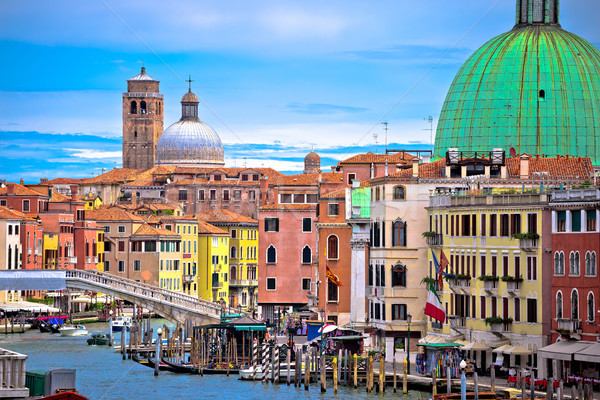 Colorful Canal Grande in Venice view Stock photo © xbrchx