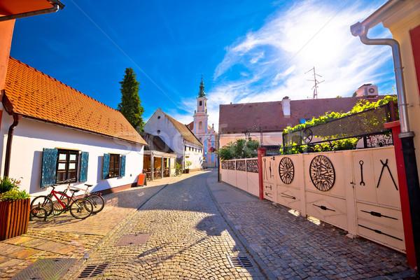 Coloré rue baroque ville vue nord Photo stock © xbrchx