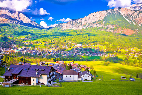 Alpne green landscape of Cortina d' Ampezzo Stock photo © xbrchx