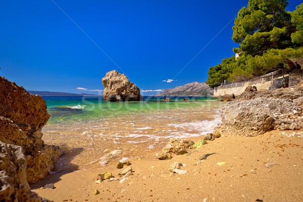 Sand beach in Brela view Stock photo © xbrchx