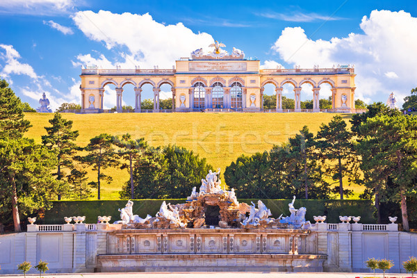 Stock photo: Gloriette viewpoint and Schlossberg fountain in Vienna view