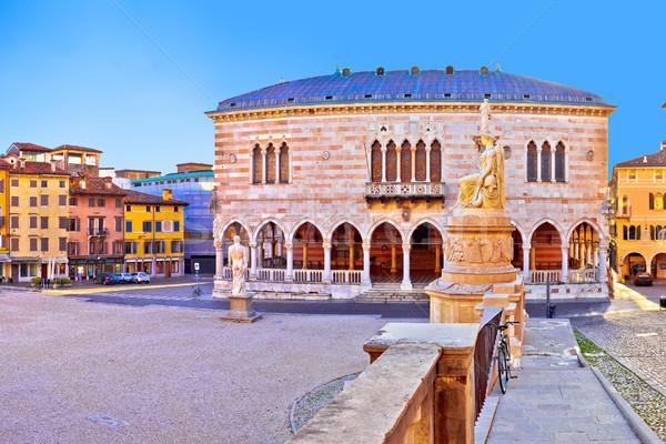 Piazza della Liberta square in Udine landmarks view Stock photo © xbrchx