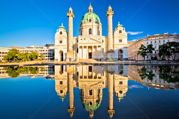 Церкви Вена отражение мнение цветок пейзаж Сток-фото © xbrchx