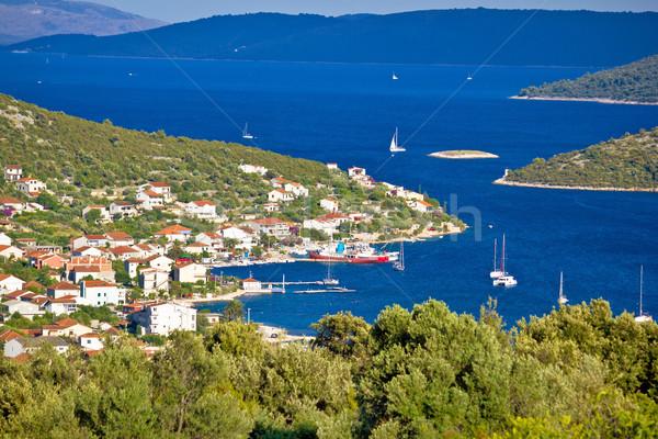 Vinisce village bay sailing destination Stock photo © xbrchx