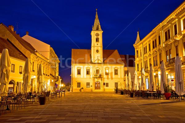 Barroco cuadrados vista Croacia Foto stock © xbrchx