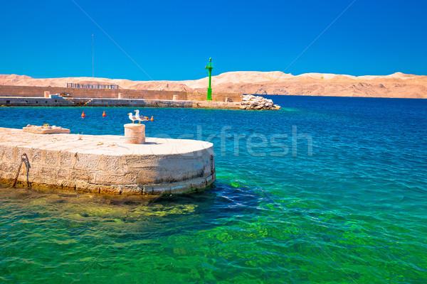 チャンネル ターコイズ 水辺 砂漠 島 表示 ストックフォト © xbrchx